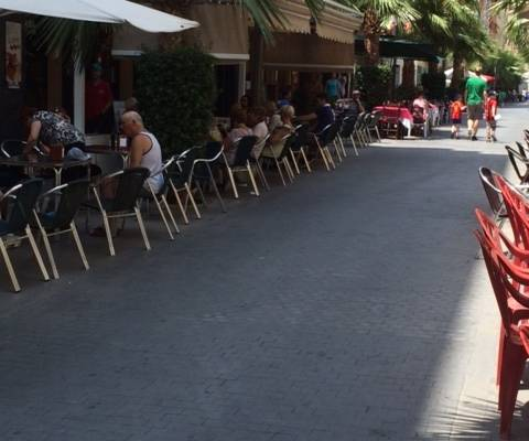 Coffee time in Torrevieja - July 2014