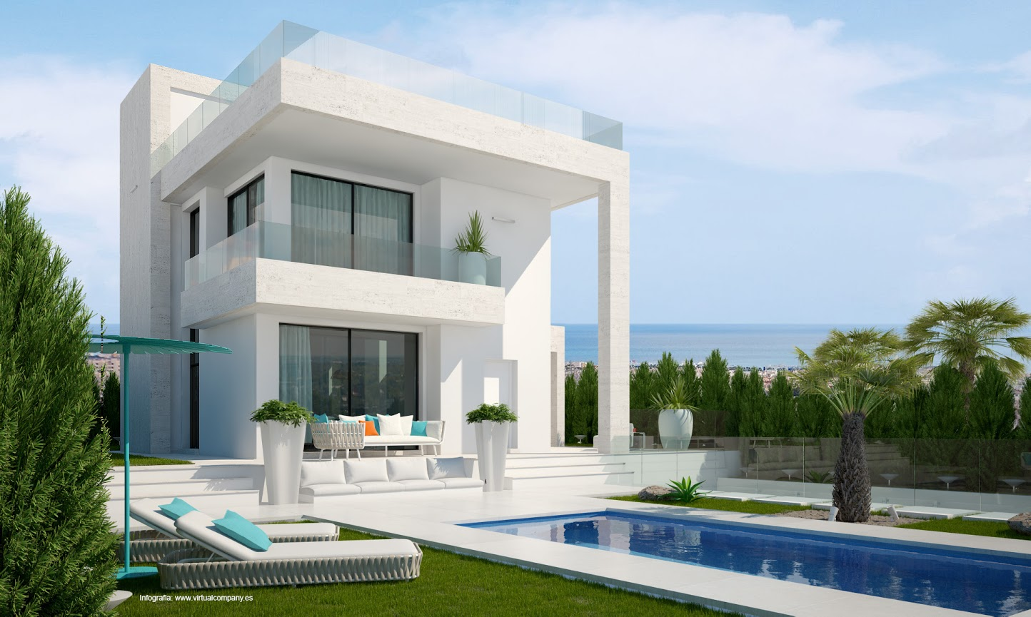 Stunning new development of high quality three bedroom, two bathroom modern detached villa´s in , Spain