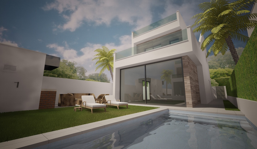 Sensationally designed and very well priced deluxe three bedroom, two bathroom detached villas wh, Spain